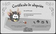 Certificado Ciervo Negro