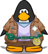Puffle Trainer Outfit On Player Card