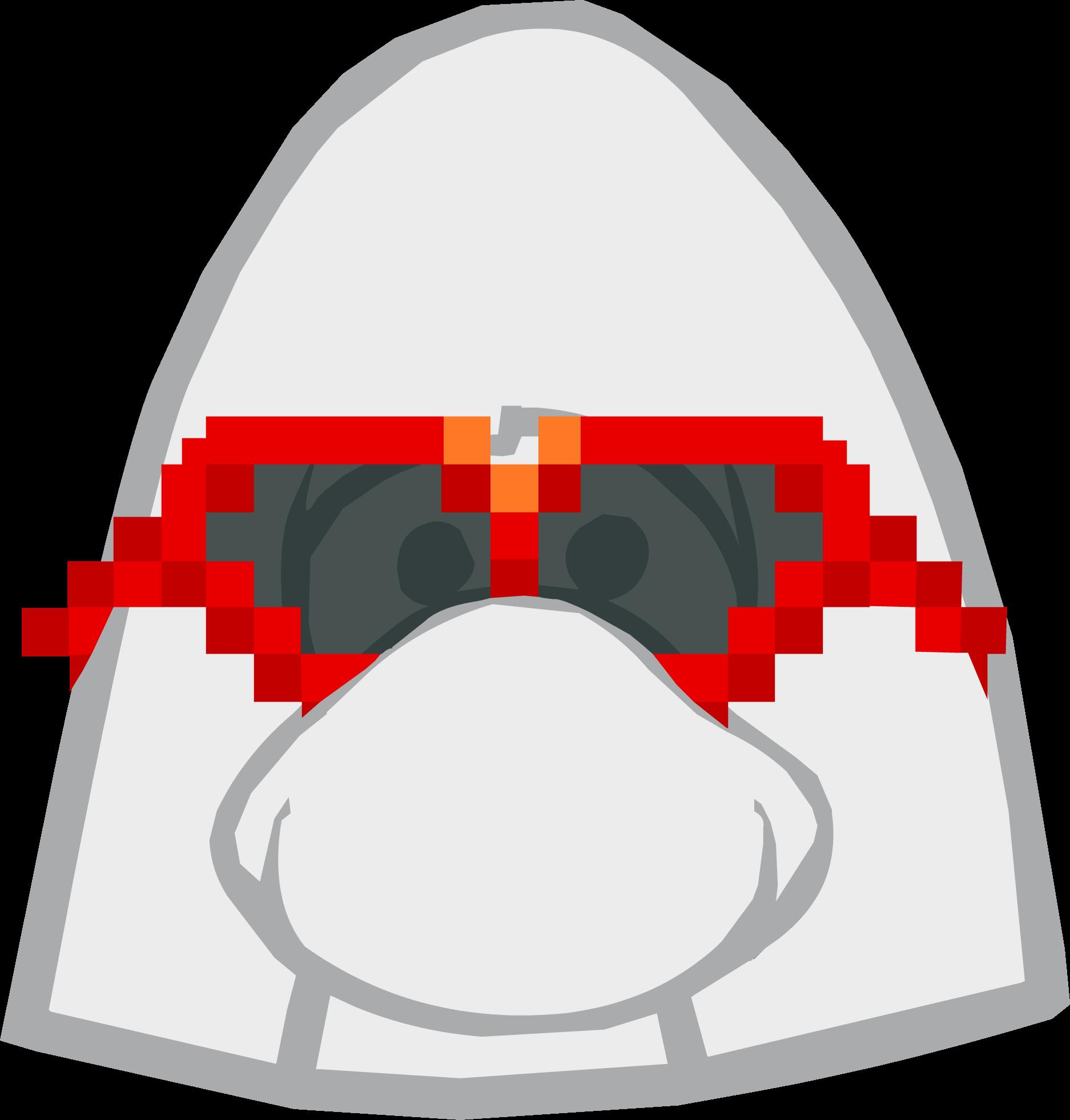 Gafas Rojas Pixeladas