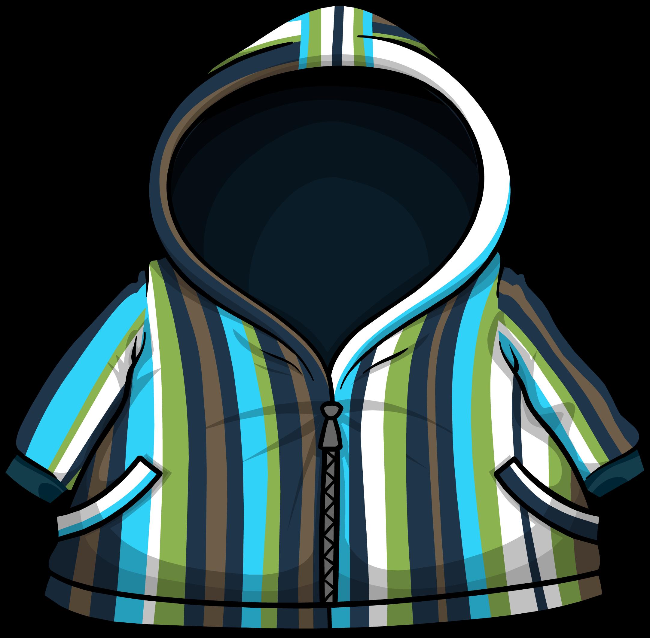 Blue Striped Raincoat
