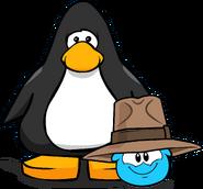 Adventurer's Fedora on Player Card