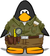 Archaeologist Outfit On Player Card