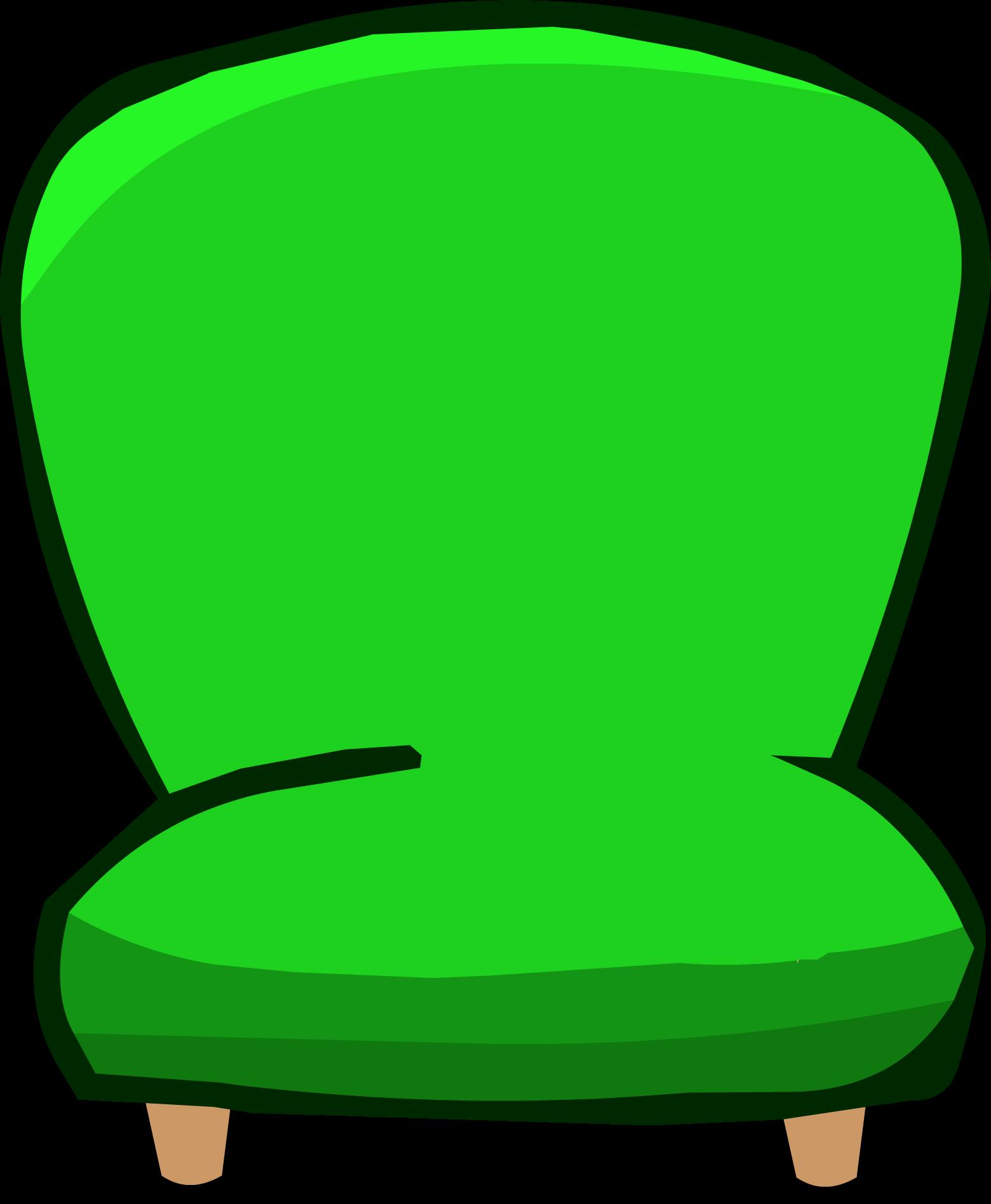 Green Plush Chair