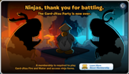 Card-Jitsu Party Over Notification