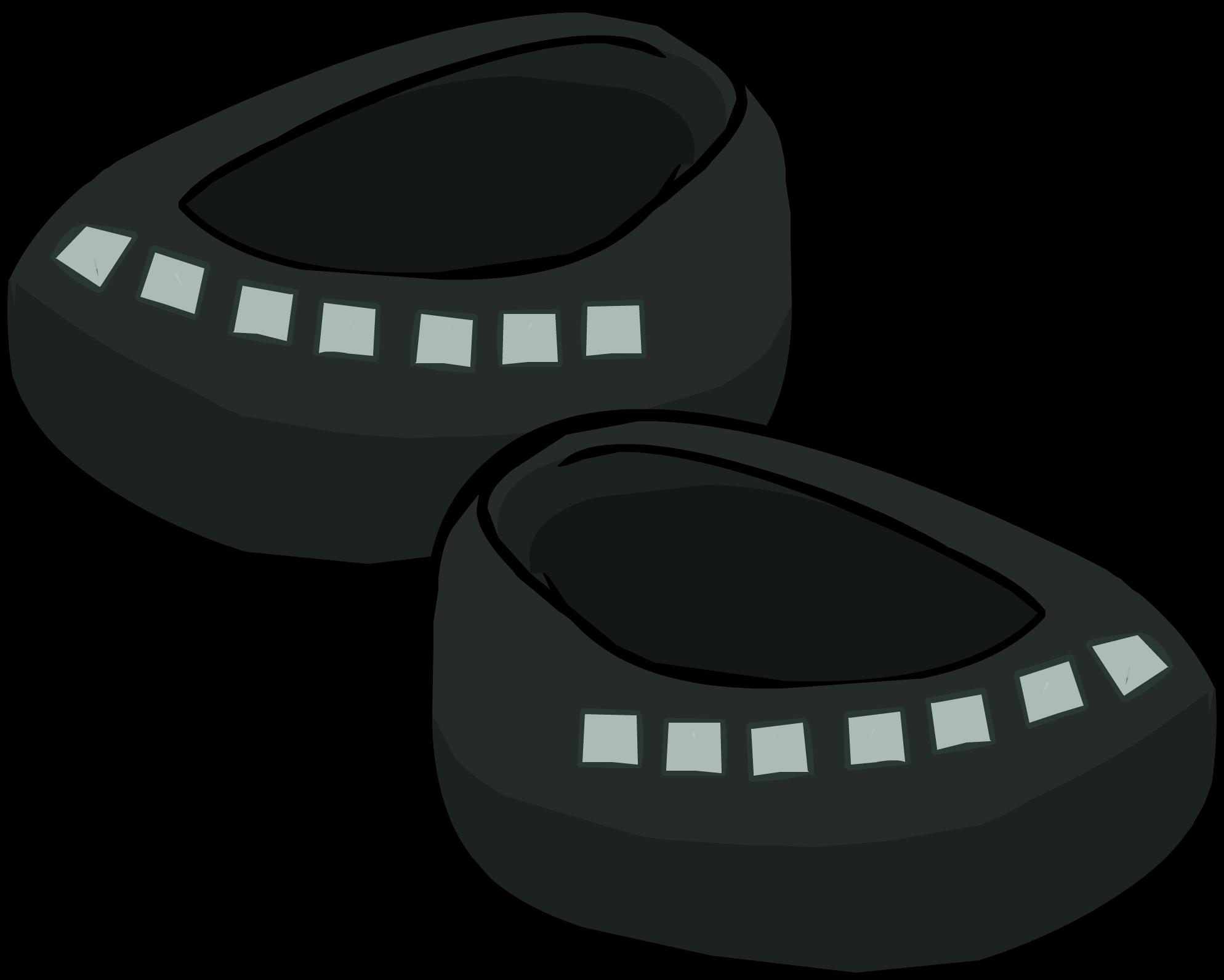 Black Studded Shoes