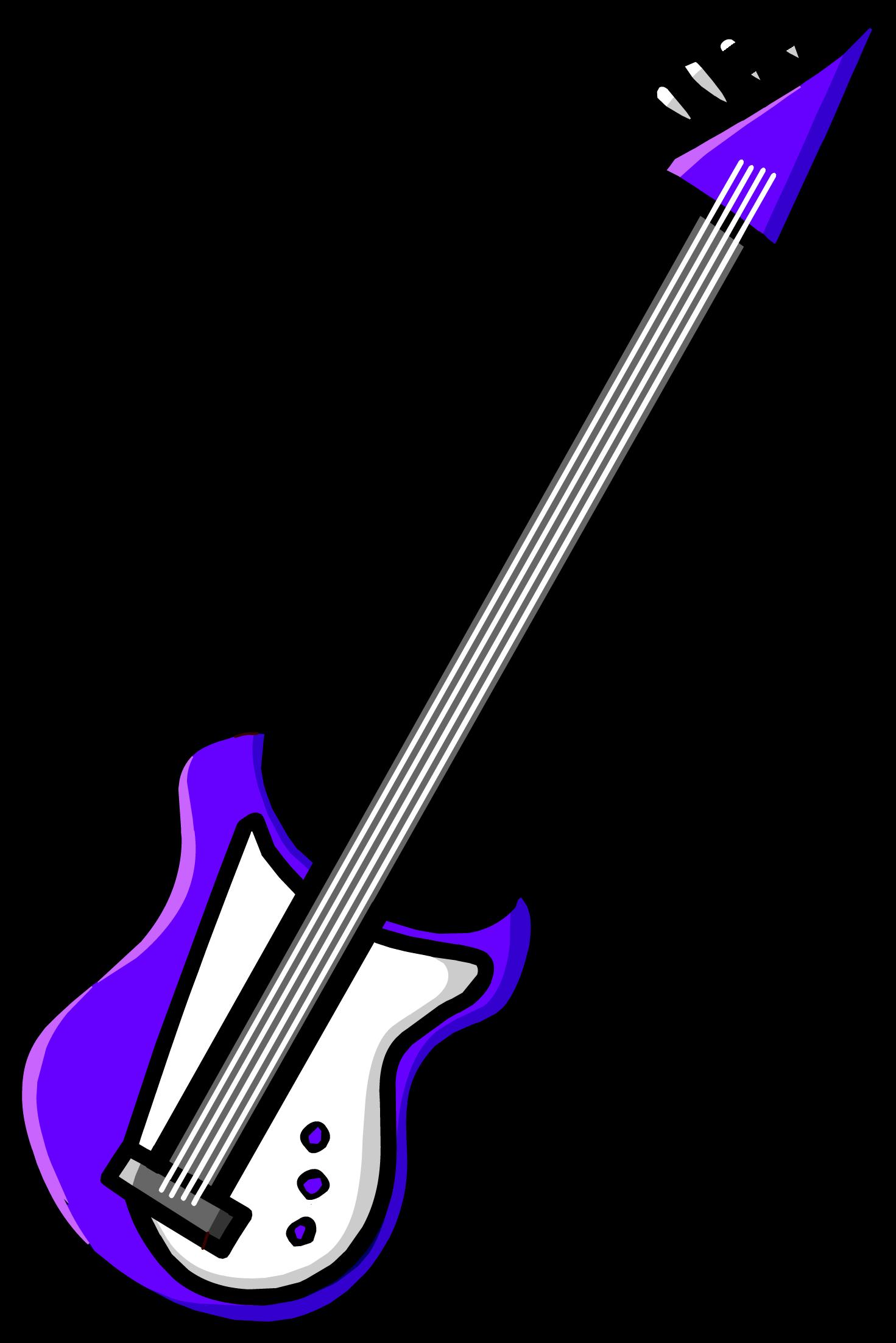 Purple Electric Bass