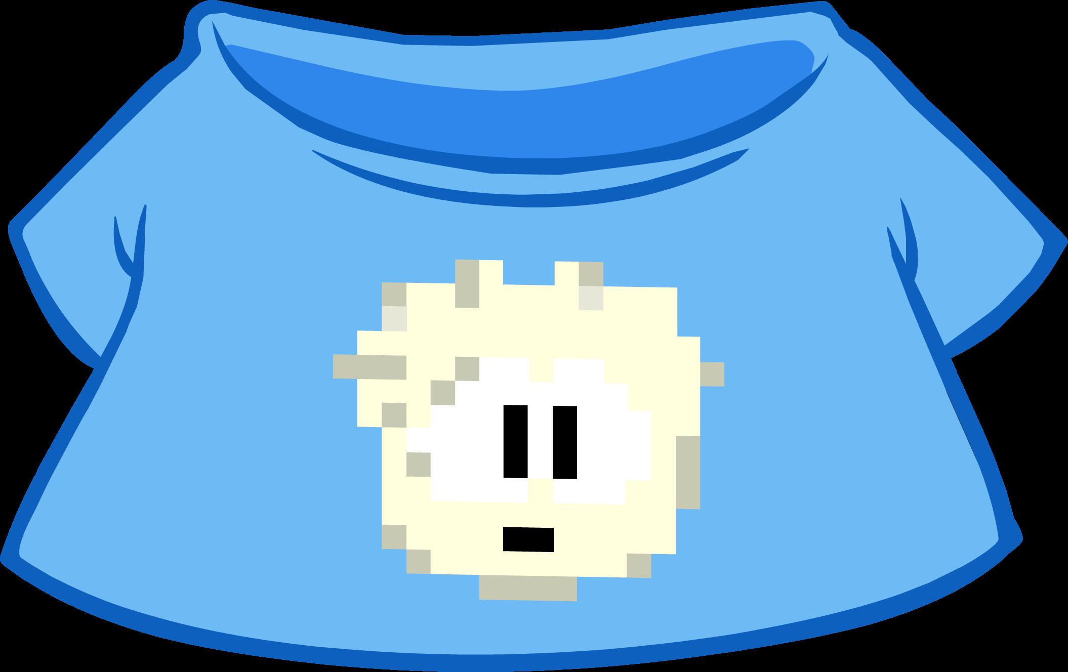 Camiseta de Puffle Pixelado Blanca
