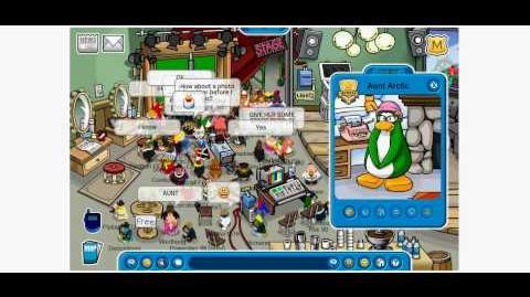 Club Penguin Meeting Aunt Arctic - Penguin Play Awards 2010