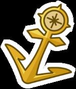 Pin de Ancla de Oro