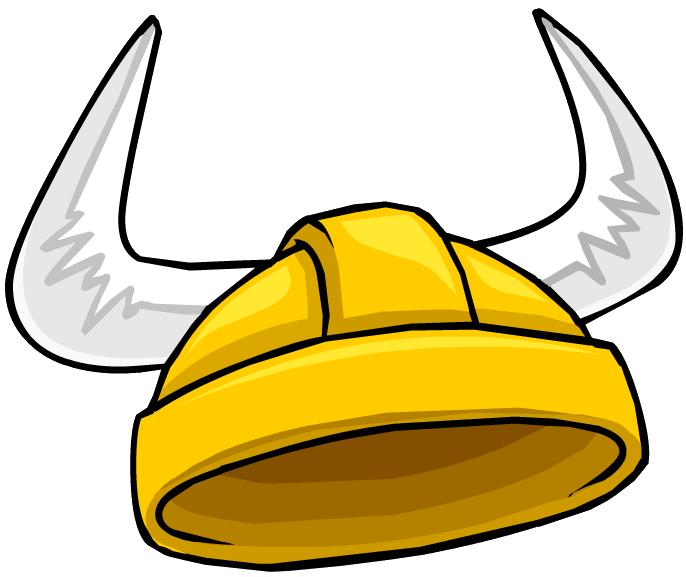 Casco de Vikingo Dorado (Sombrero para Puffles)