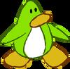 Doodle Dimension penguin Lime Green