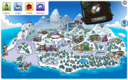 Mapa club penguin