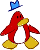 Doodle Dimension penguin Red hat