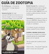 Guia de zootopia