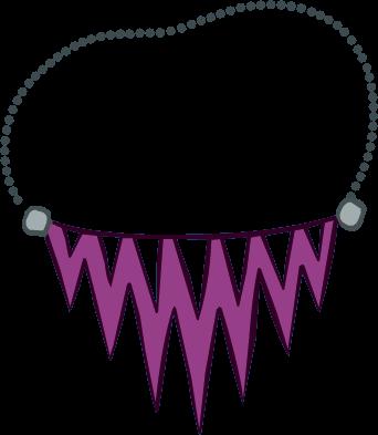 Collar Violeta con Puntas