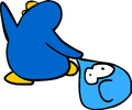 Puffle Bowling Old Blue Penguin