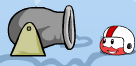 Red puffle playing in-game