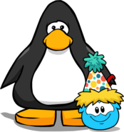 Polka Puffle Hat on Player Card