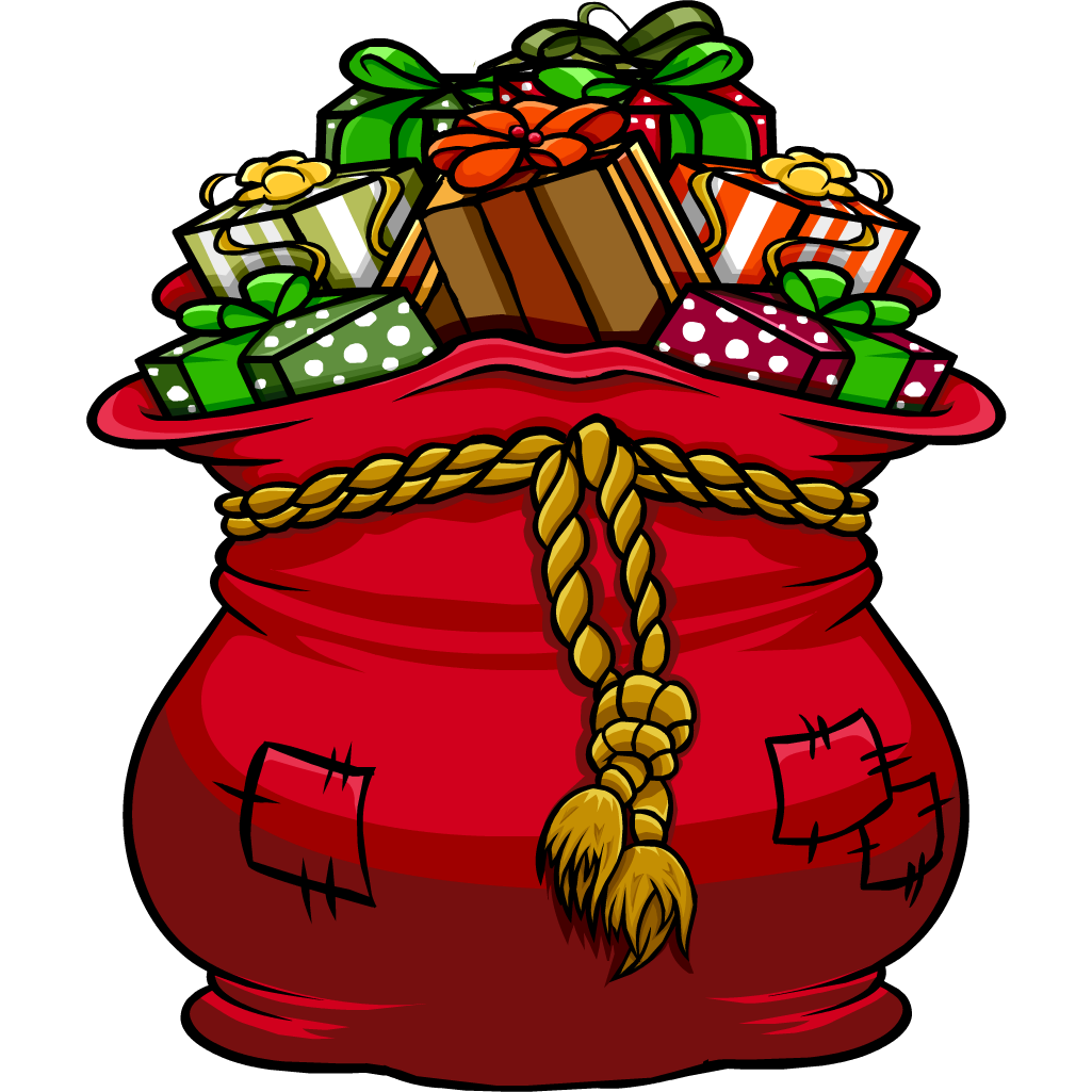 Bolsa de regalos de Santa Claus