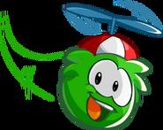 GreenPuffleFlyingRedPropellorCap