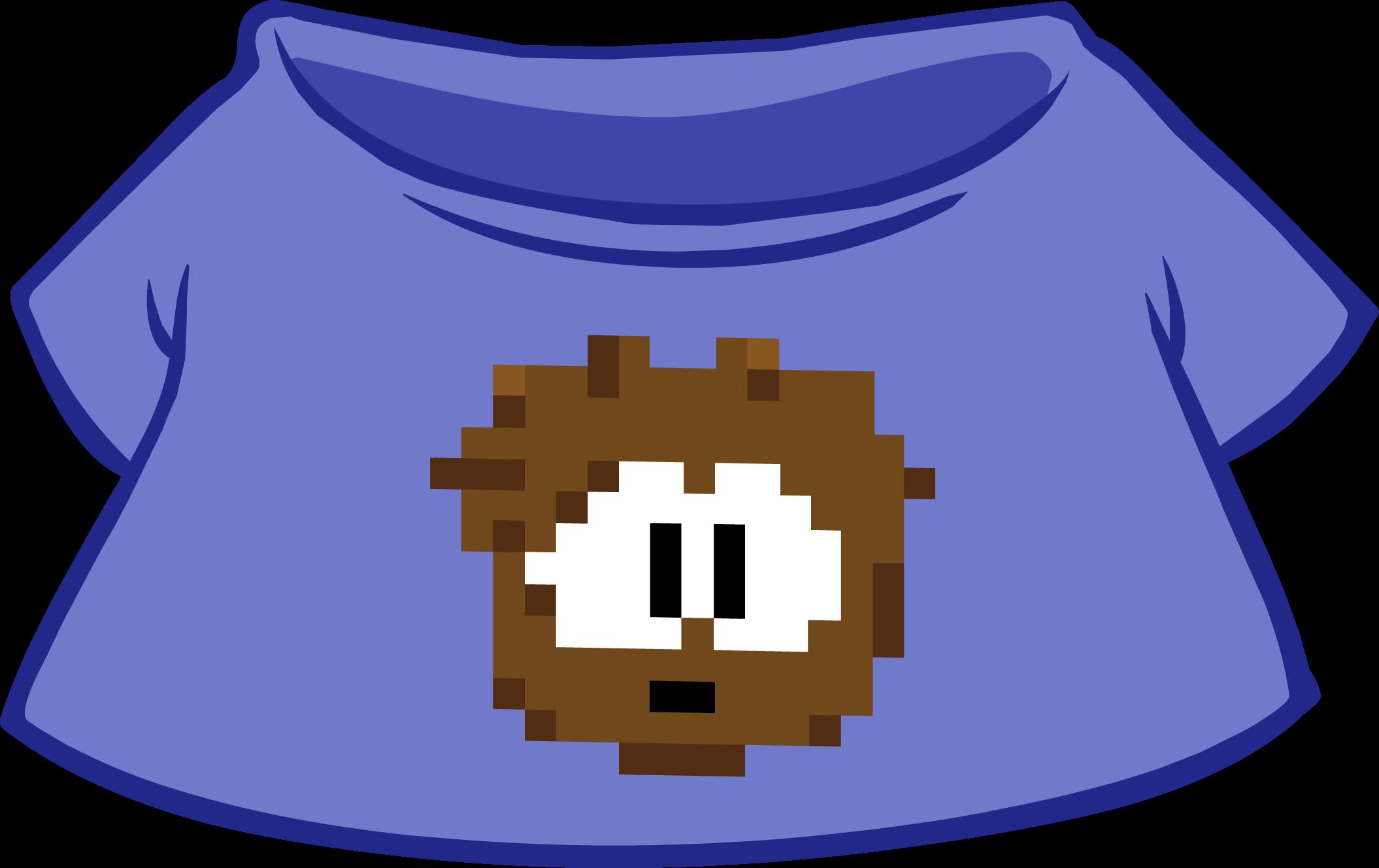 Camiseta de Puffle Pixelado Café