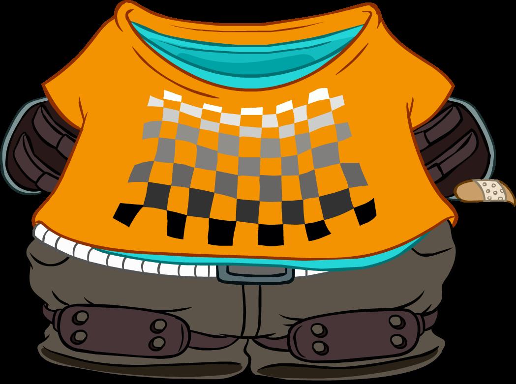 Conjunto de Skater Naranja