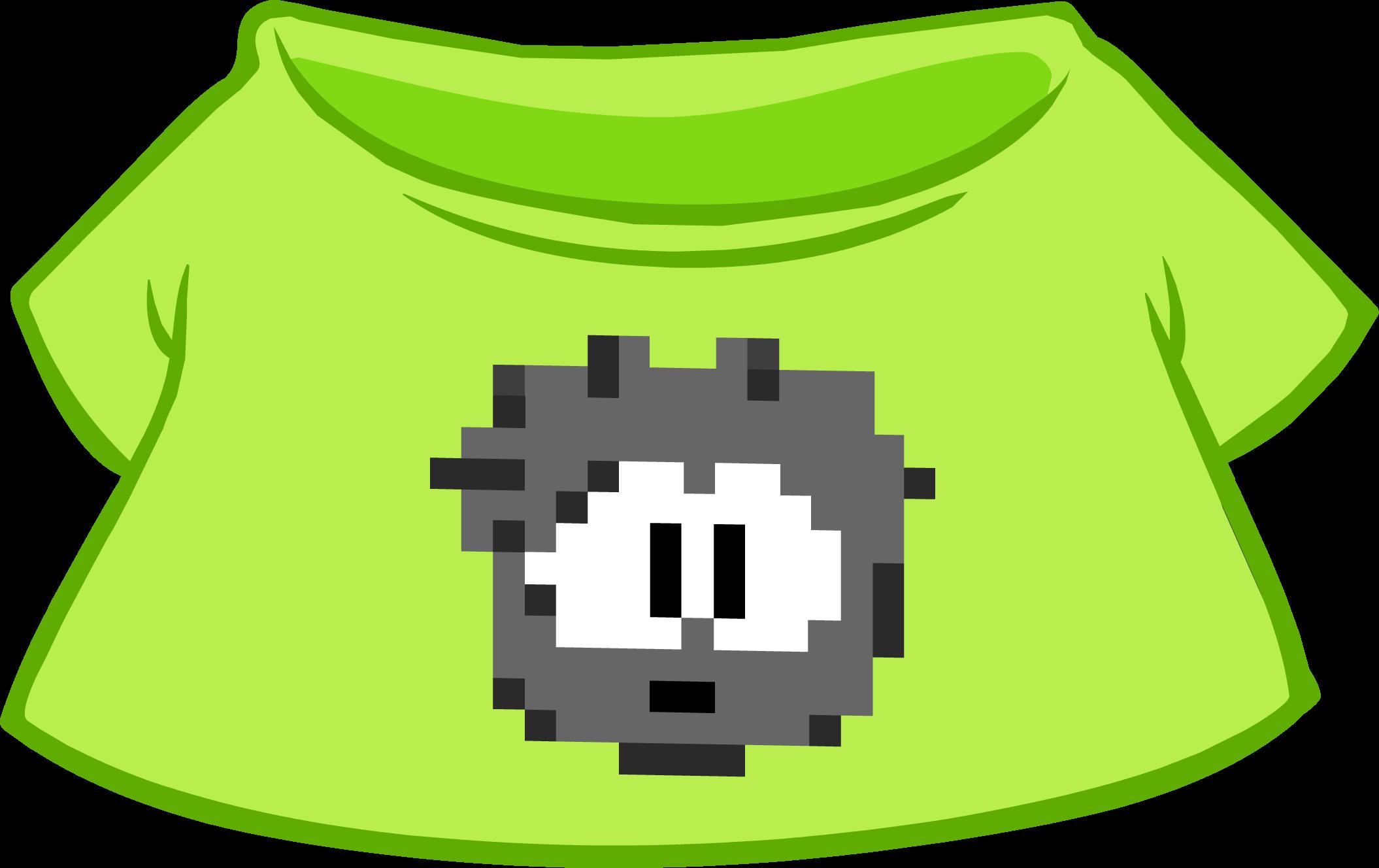 Camiseta de Puffle Pixelado Negra