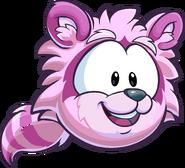 Puffle mapache rosadito rayas