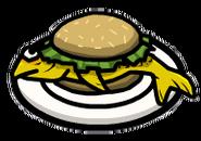 Fishburger on Plate