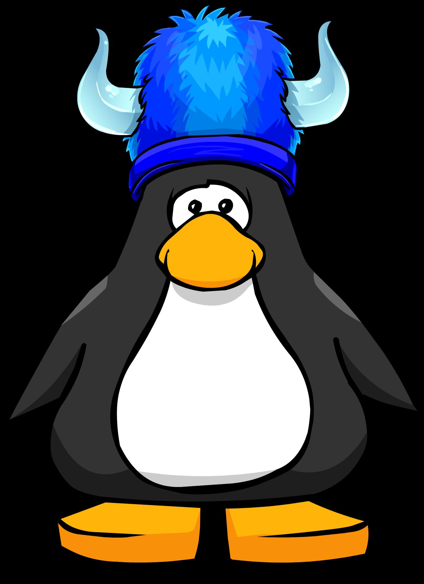 Blue Fuzzy Viking Hat
