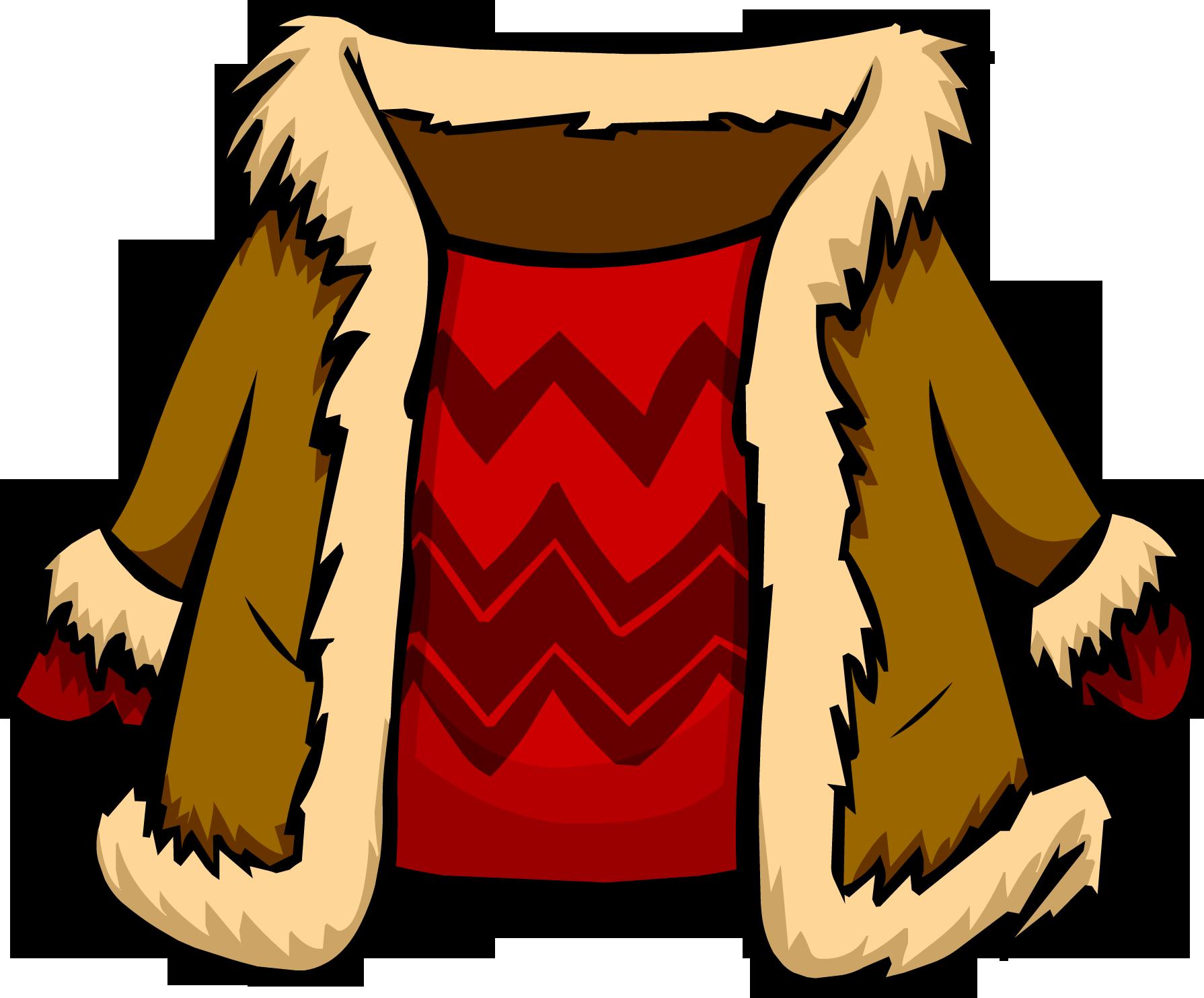 Abrigo de Gamuza con Rojo