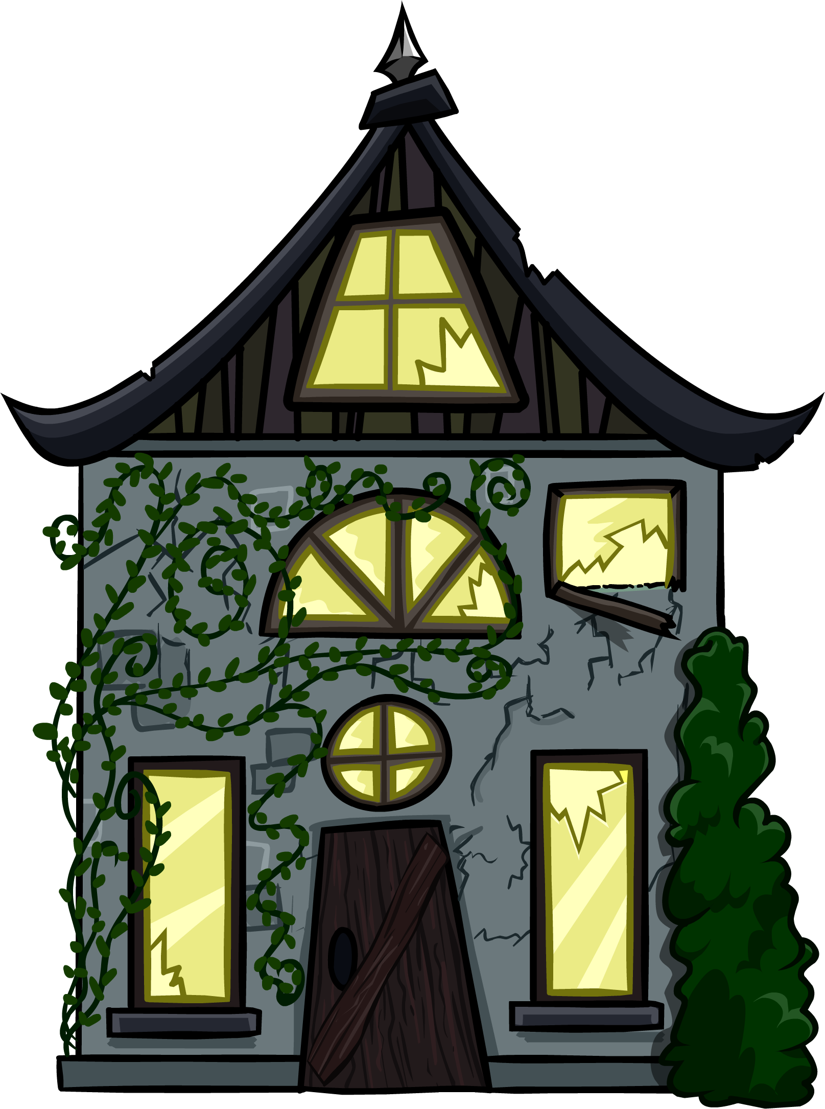 Creepy Cottage Cut-Out