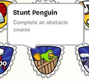 Stunt Penguin stamp SB