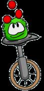 Puffle on unicycle