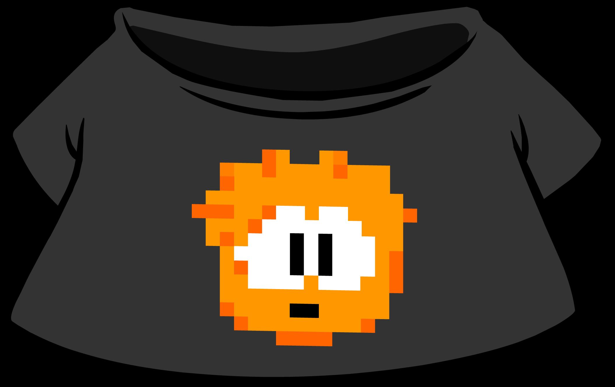Camiseta de Puffle Pixelado Naranja