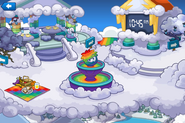 Rainbow Puffle Party Snow Forts
