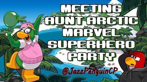 Club Penguin - Meeting Aunt Arctic Marvel Superhero Party April 2013