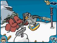 Snow-bot dismantling ski lift