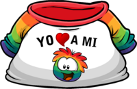 Camiseta Yo Amo a mi Puffle Multicolor icono.png