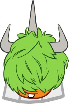 Peinado Tres Cuerno Verde