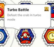 Turbo battle stamp book