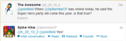 185px-SpikeHikeConfirmsSuperheroTakeoverIn2013Tweet