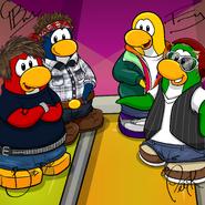 Penguin Band Background photo de