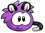 Puffle gato violeta