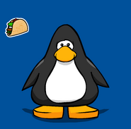 Taco pin from a Player Card