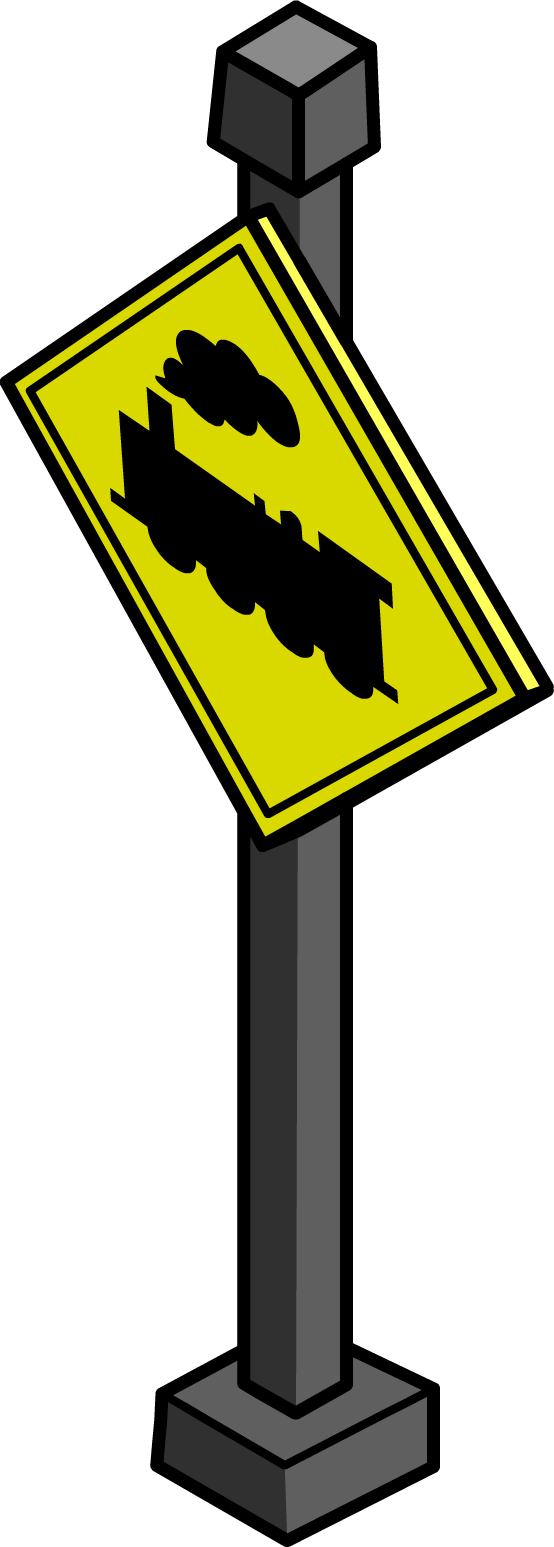 "Letrero ""Cruce de Tren"""