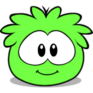 Lime green puffle