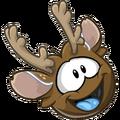Reindeer Puffle laughing