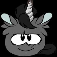 Black Unicorn Puffle sprite