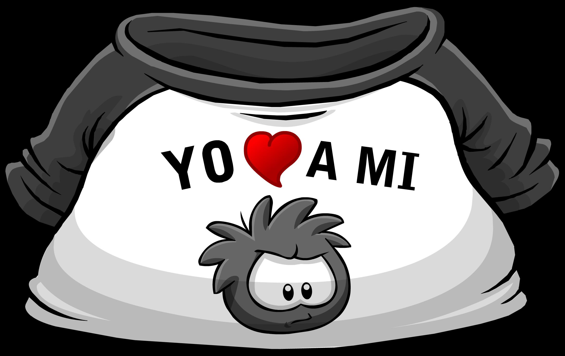 "Camiseta ""Yo Amo a mi Puffle Negro"""